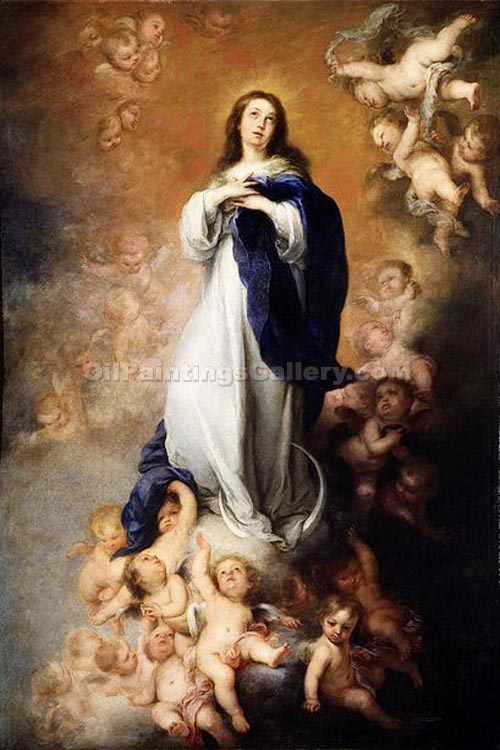 """Immaculate of Soult"" by  Bartolome Esteban Murillo"