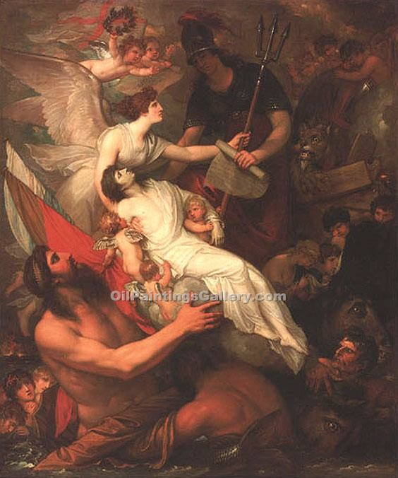 """Immortality of Nelson"" by  Benjamin West"