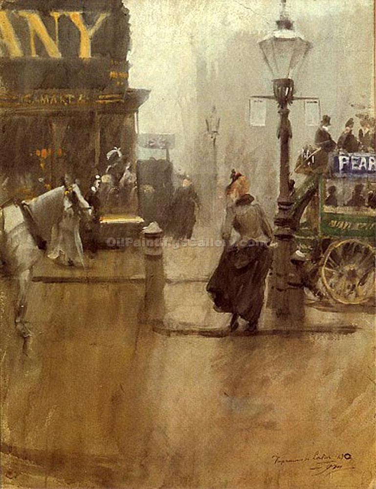 """Impressions of London"" by  Anders Zorn"