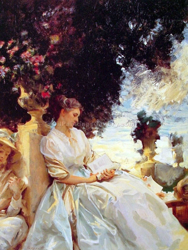 In A Garden by John Singer Sargent | Modern Art Gallery Online - Oil Paintings Gallery