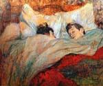 In Bed by  Henri Toulouse Lautrec (Painting ID: ED-1134-KA)