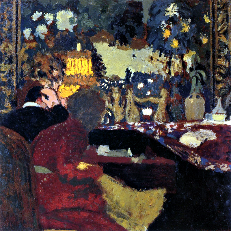 """In Front of a Tapestry"" by  Edouard Vuillard"
