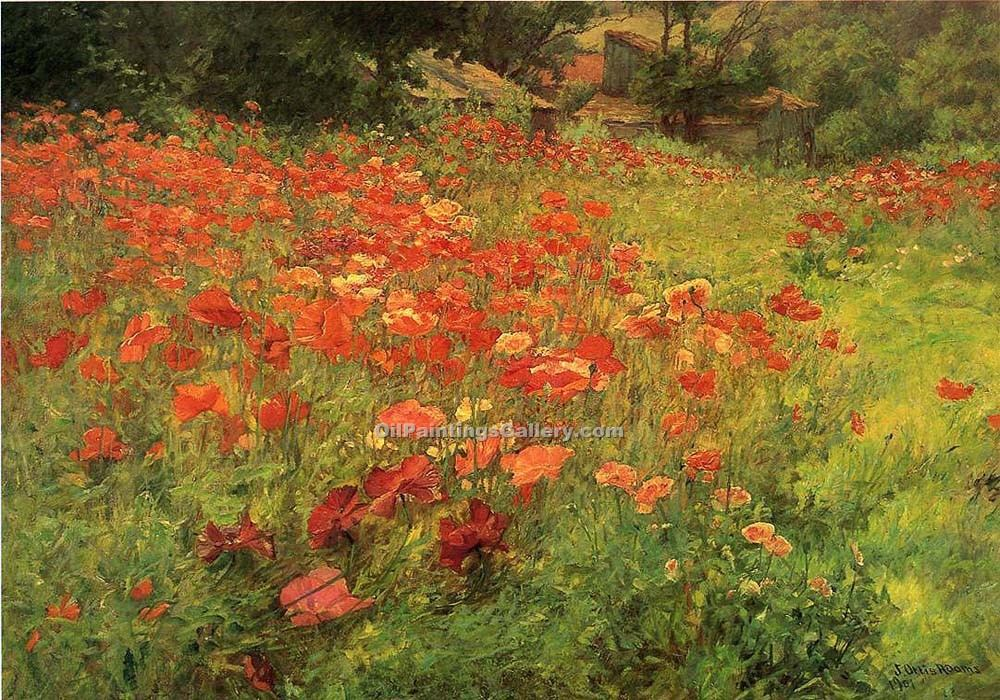 """In Poppyland"" by  John Ottis Adams"