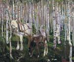 In The Forest by  Arkady Alexandrovich Rylov (Painting ID: RO-0302-KA)