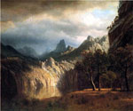 In Western Mountains by  Albert Bierstadt (Painting ID: LA-3357-KA)