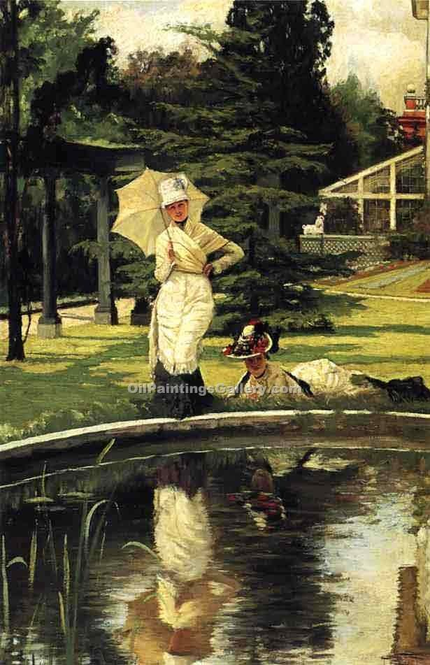"""In an English Garden"" by  James Tissot"