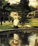 In an English Garden by  James Tissot (Painting ID: CL-4298-KA)
