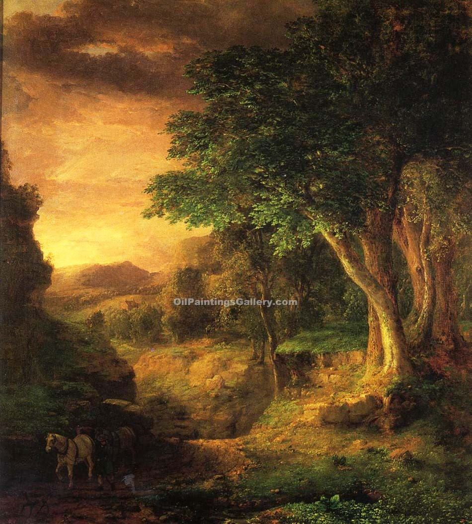 """In the Berkshires"" by  George Inness"