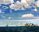 In the Blue Expanse Oil Painting (ID: AN-0992-D)