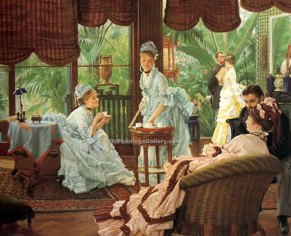 """In the Conservatory"" by  James Tissot"