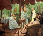 In the Conservatory by  James Tissot (Painting ID: CL-4299-KA)