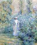 In the Flower Garden by  Robert Reid (Painting ID: CK-0117-KA)