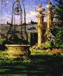In the Gardens of the Villa Palmieri by  James Carroll Beckwith (Painting ID: CI-2100-KA)