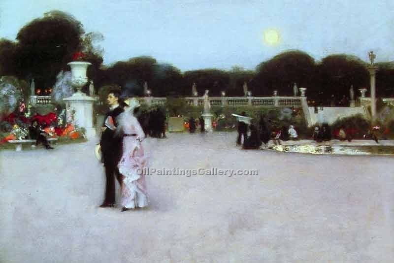 """In the Luxembourg Gardens"" by  John Singer Sargent"