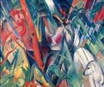 In the Rain by  Franz Marc (Painting ID: AB-0184-KA)