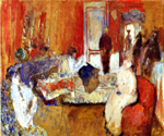 In the Red Room Oil Painting (ID: AB-0745-KA)