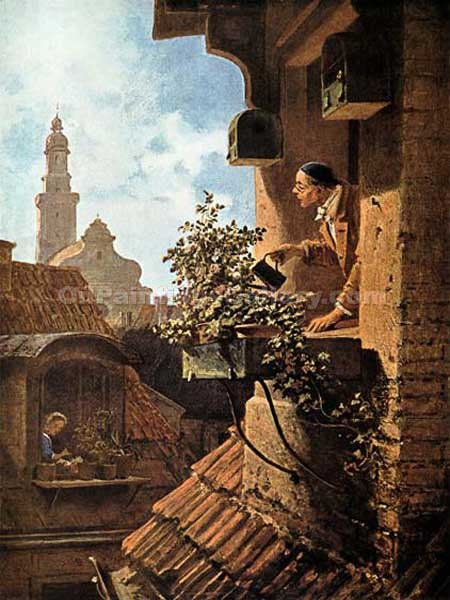 """In the Roof Little Room"" by  Carl Spitzweg"
