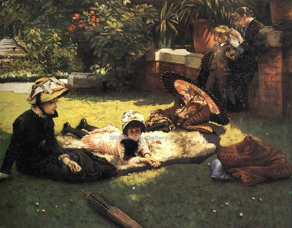 """In the Sunshine"" by  James Tissot"