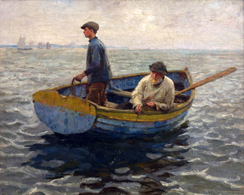 In the Whiting Ground by HaroldHarvey | Oil Art Gallery - Oil Paintings Gallery