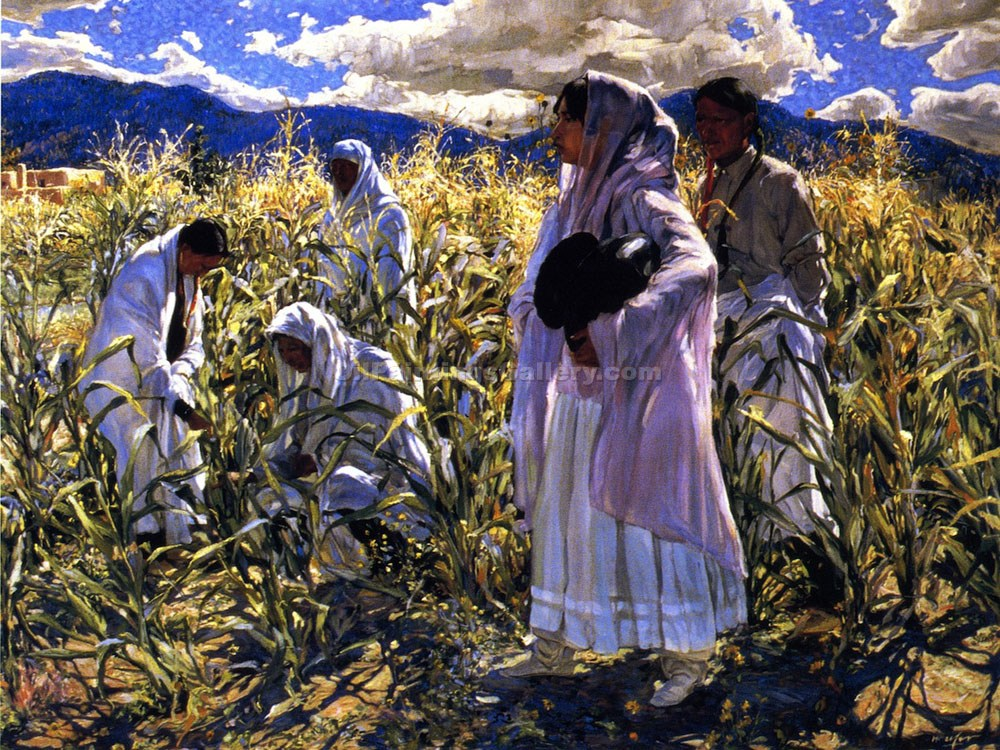 """Indian Corn Taos"" by  Walter Ufer"