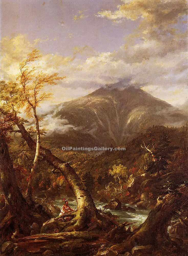 """Indian Pass Tahawus"" by  Thomas Cole"