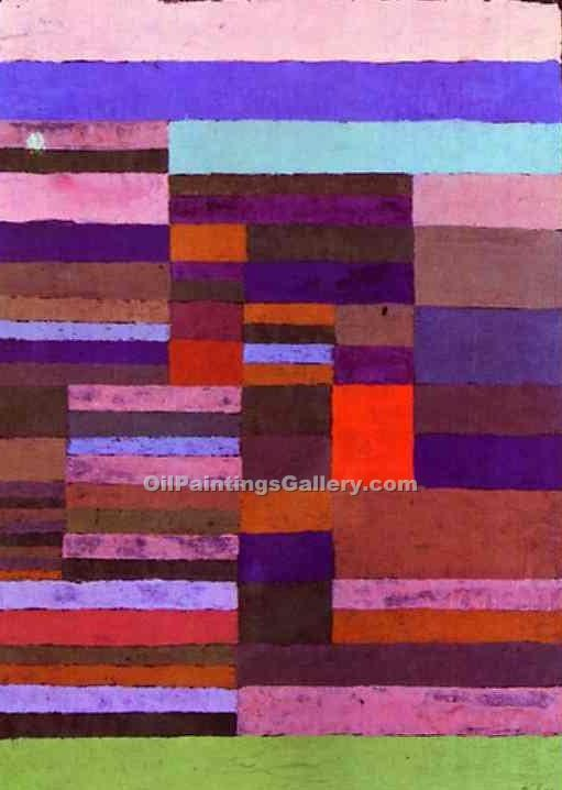 """Individualized Altimetry of Stripes"" by  Paul Klee"