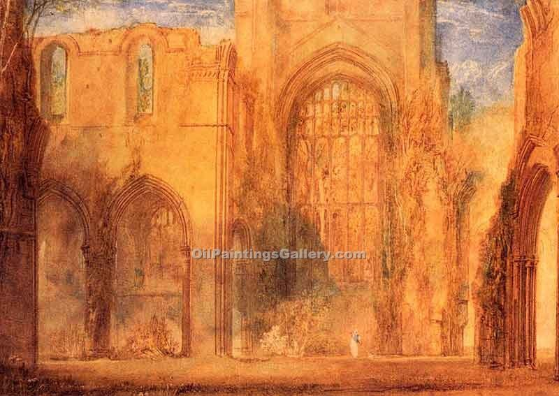 """Interior of Fountains Abbey Yorkshire"" by  William Turner"