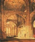 Interior of Salisbury Cathedral by  Joseph Mallord William Turner (Painting ID: CI-1444-KA)