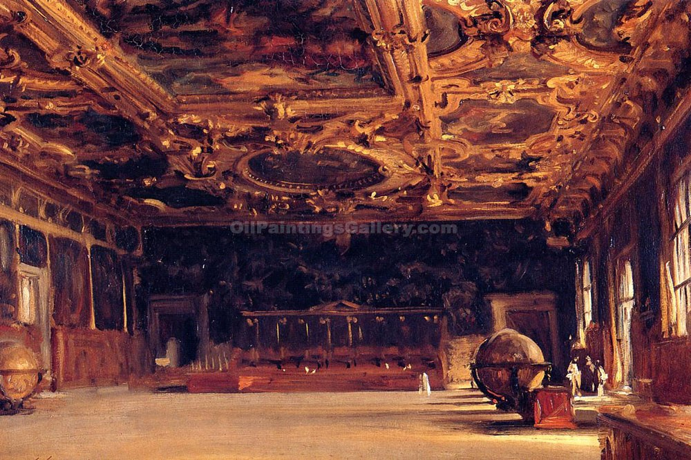 """Interior of the Doge"" by  John Singer Sargent"