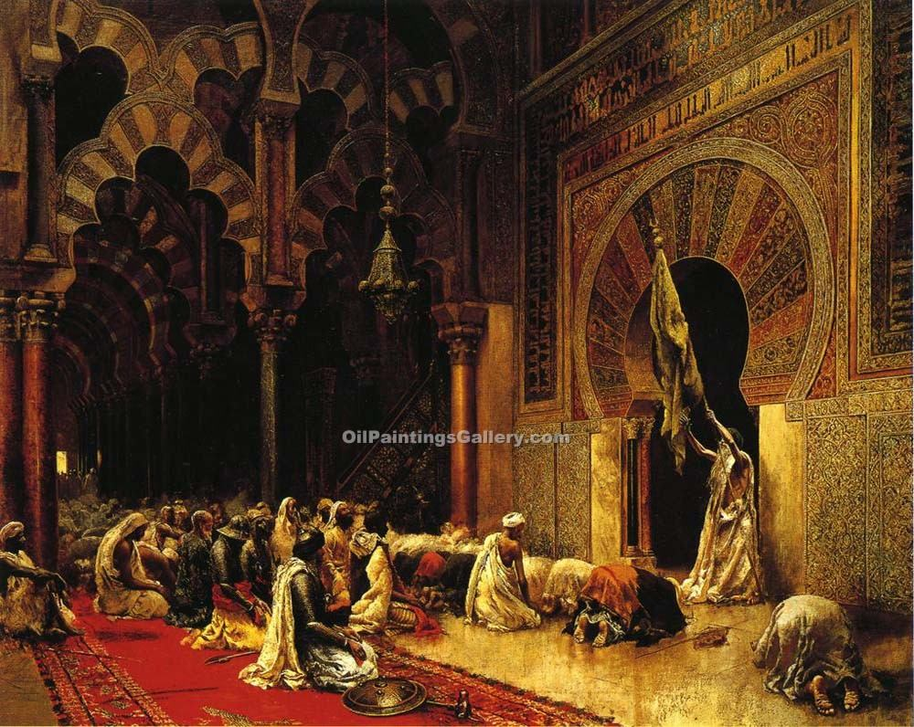 """Interior of the Mosque at Cordova"" by  Edwin Lord Weeks"