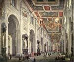Interior of the San Giovanni in Laterano in Rome by  Giovanni Paolo Pannini (Painting ID: CM-0861-KA)