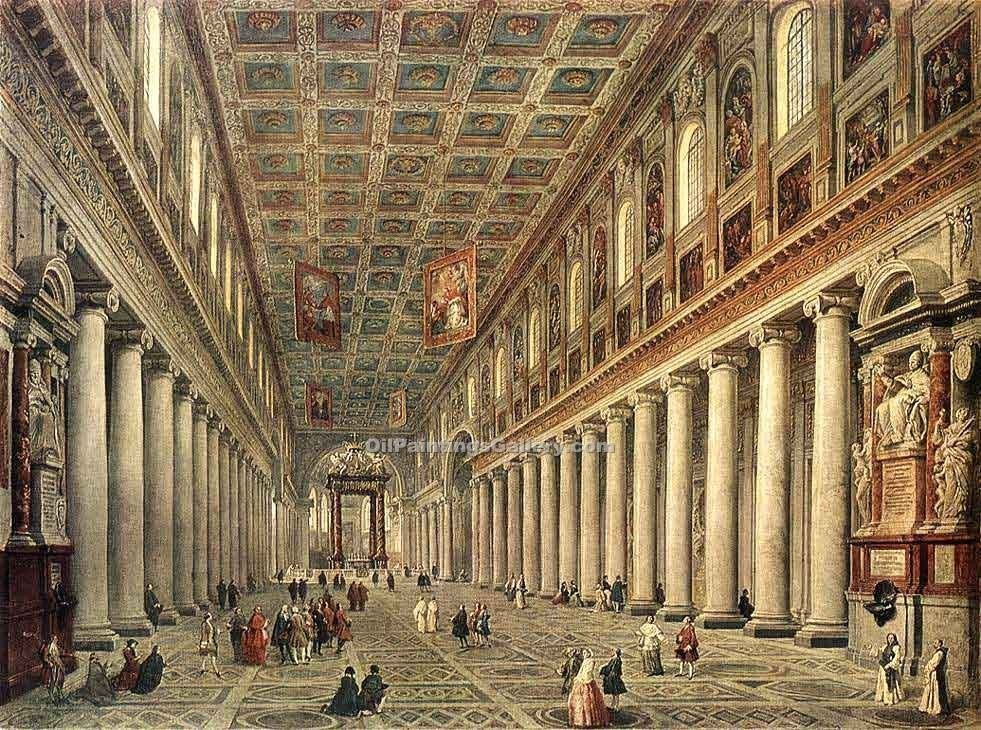 """Interior of the Santa Maria Maggiore in Rome"" by  Giovanni Paolo Pannini"