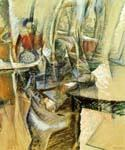 Interior with Female Figuers by  Umberto Boccioni (Painting ID: AF-0328-KA)