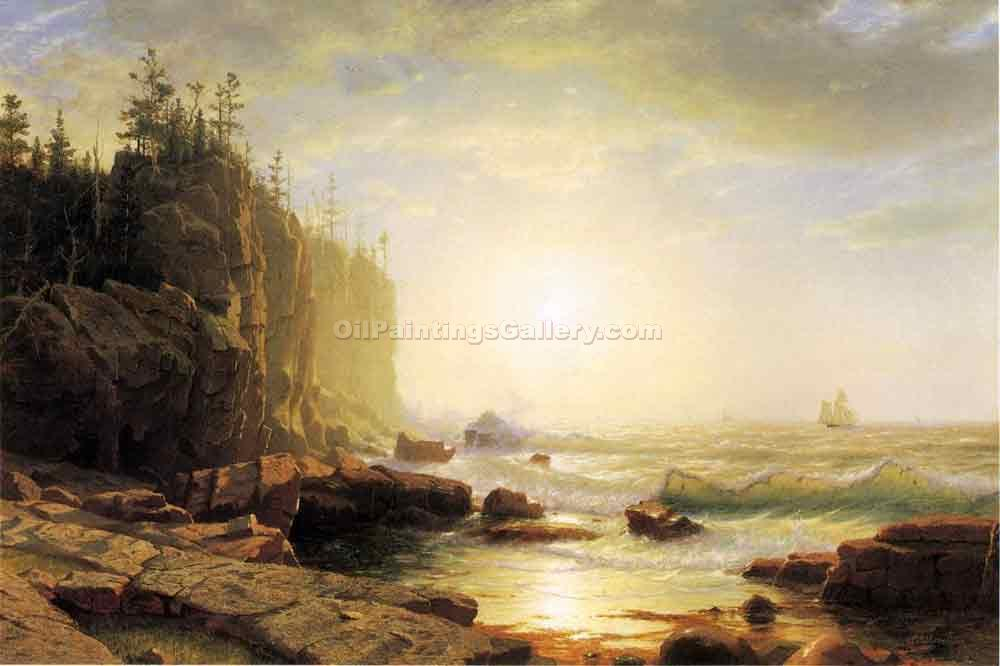 Iron-Bound, Coast of Main by William Stanley Haseltine | Artist Painting - Oil Paintings Gallery