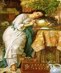 Isabella and the Pot of Basil 21 by  William Holman Hunt (Painting ID: CL-3221-KA)