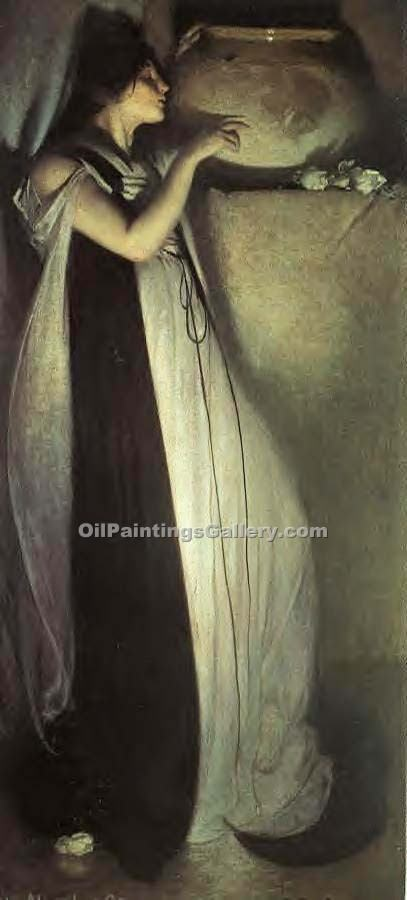 """Isabella and the Pot of Basil 62"" by  John White Alexander"