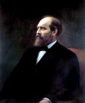James Garfield, 20th President, Painted Calvin Curtis  (Painting ID: CM-0020-KA)