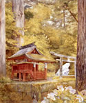 Japanese Pagoda in the Woods by  Henry Roderick Newman (Painting ID: LA-3210-KA)