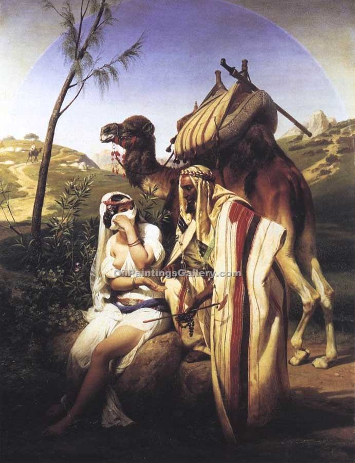 """Jehuda and Tamar"" by  Horace Vernet"
