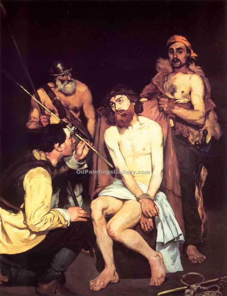 """Jesus Mocked by the Soldiers"" by  Edouard Manet"