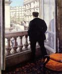 Jeune Homme a La Fenetre by  Gustave Caillebotte (Painting ID: CI-0732-KA)