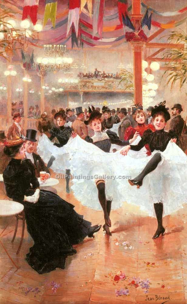 """Jeune Le Cafe de Paris"" by  Jean Beraud"