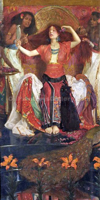 """Jezebel"" by  John Byam Liston Shaw"