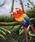 Jungle Parrots 47 Oil Painting (ID: AN-0947-B)