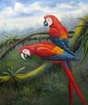 Jungle Parrots 49 Oil Painting (ID: AN-0949-A)