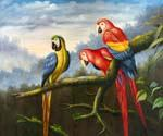 Jungle Parrots 68  (Painting ID: AN-1068-KA)