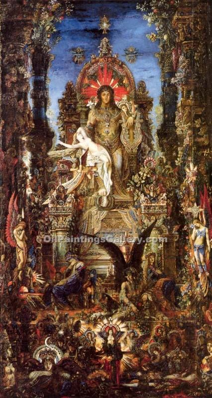 Jupiter and Semele by Moreau Gustave | Modern Painting Gallery - Oil Paintings Gallery