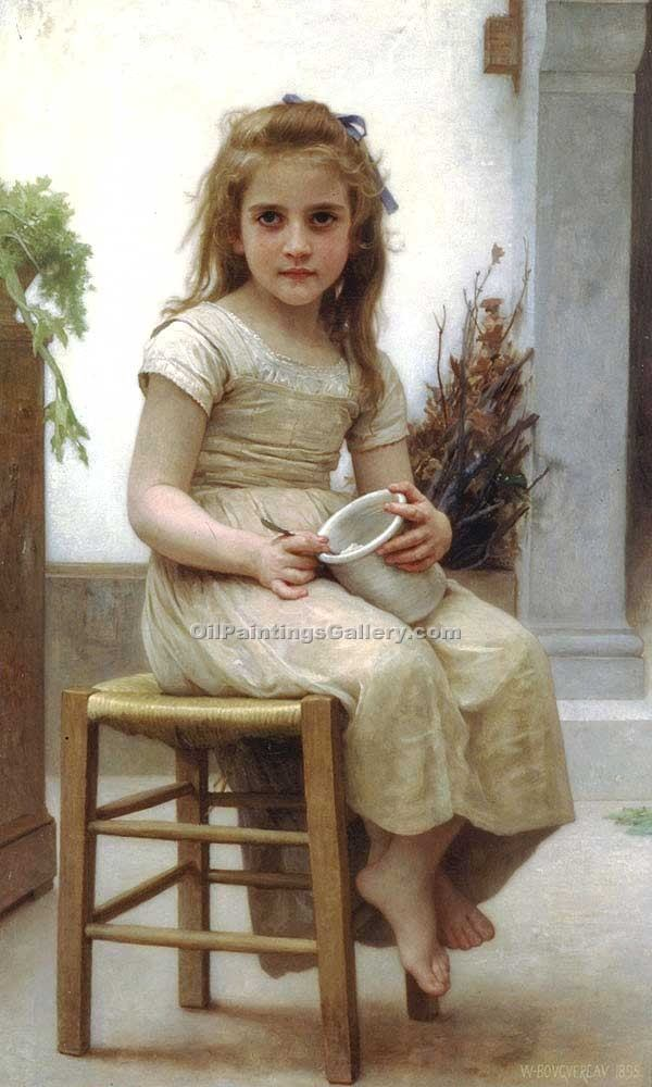 """Just a Taste"" by  Adolphe Bouguereau"