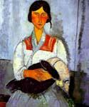 Jypsy Woman with a Child by  Amedeo Modigliani (Painting ID: EI-2020-KA)