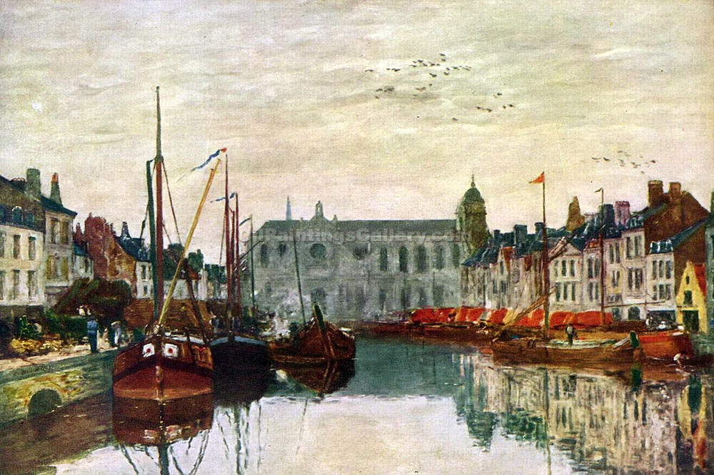 """Canal in Brussel"" by  Eugene Louis Boudin"